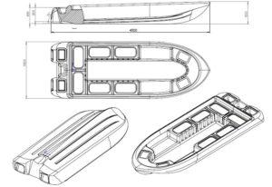 """Испытания моторной лодки """"Мечта""""."""